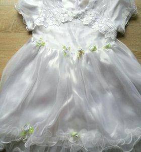 Платье детское белого цвета