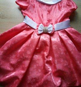 Платье караллового цвета