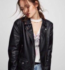 Кожаная куртка, чёрная