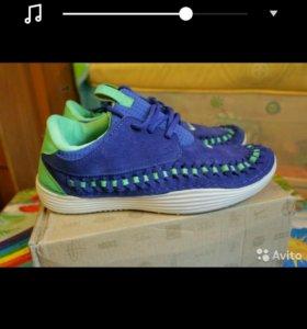 Кроссовки Nike натуральная замша голубые