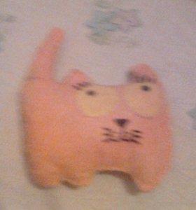 Самодельная игрушка котик