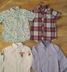 Рубашки, футболки на мальчика 6-7 лет
