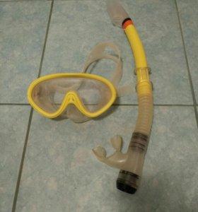 Маска и трубка для ныряния детская
