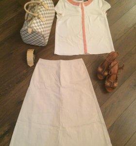 Блузка/юбка/ босоножки/ сумка