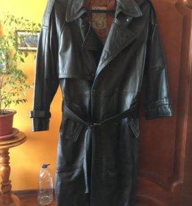 Кожаное мужское пальто Италия р. 52