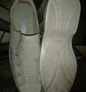 Мужские мокасины-ботинки 45 р-р