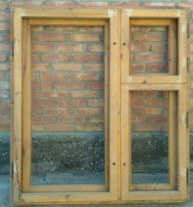 Окно заводское деревянное