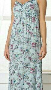 Платье светло-голубое в цветочек