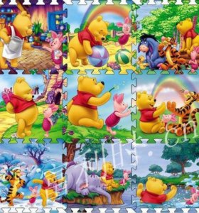 Термоковрик Мозайка Winnie the Pooh 90 x 90 x 1см