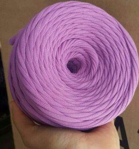 Пряжа трикотажная цвет лиловый