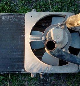 Радиатор всборе ваз 2109
