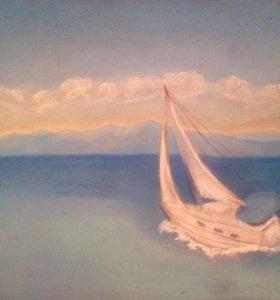 """Картина """"Яхта"""""""