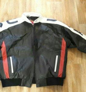 Куртка мотоциклетная кож.