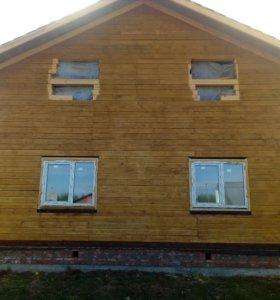Строительство домов, бань, хозпостроек.