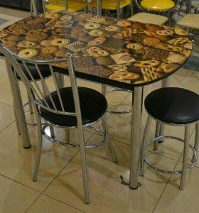 Стол обеденный ( ФОТОПЕЧАТЬ ) новый со склада.