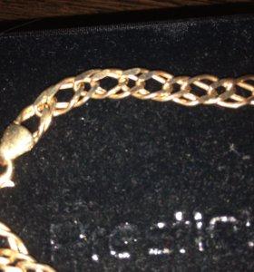 Золотой браслет ( новый)