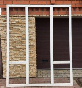Оконный блок с дверью