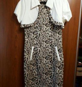 Новое леопардовое платье стрейч Mosshion с болеро