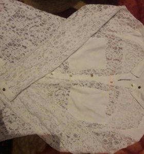 Блузка гипюр