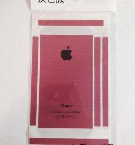 Наклейка розовая на iPhone 4/4S
