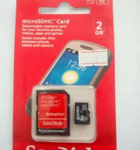 MicroSD Card 2gd+adapter