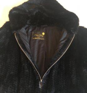 Норковый полушубок шуба куртка бомбер