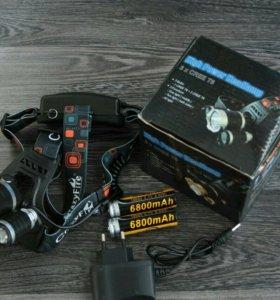 Налобный фонарь с аккумуляторами