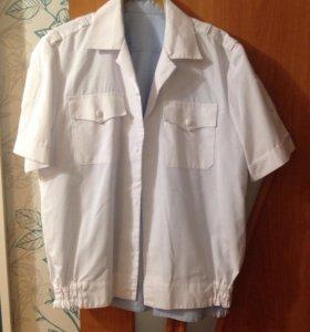 Рубашка мвд белая и синяя