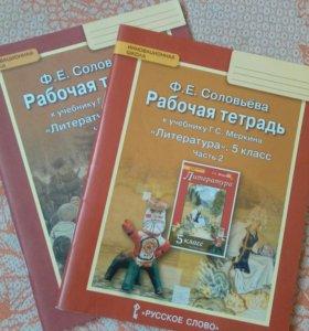 Рабочие тетради по литературе 5 класс и 7 класс