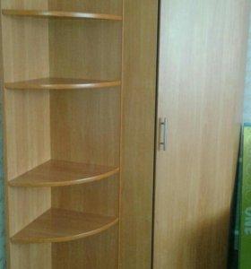 Угловой шкаф + полка
