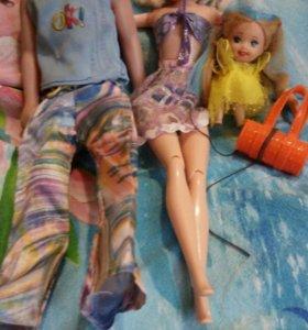 Одежда для куколки и кену и девочке