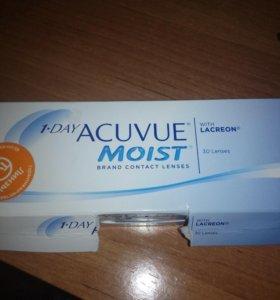 Линзы acuvue moist -3,00