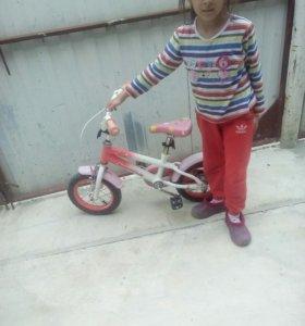 Велосипед до 5 лет с колесиками розовый
