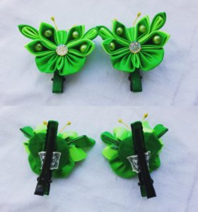 Заколки ' бабочки ' ручной работы