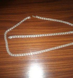 Набор серебряных цепочек