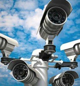 Установка видеонаблюдения, пожарно-охранных систем