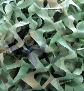 Маскировочная сетка 6.5м *1.5м (зеленый камуфляж)