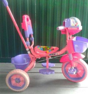 Детский велосипед с музыкой для девочки