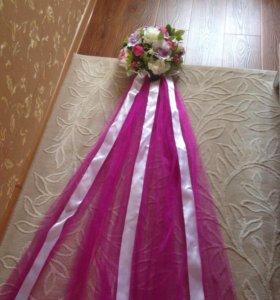 Свадебные украшения- декор на авто