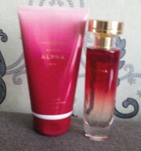 Парфюмерная вода и парфюмерный крем Alpha