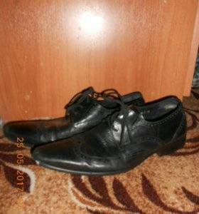 Мужские ботинки,натуральная кожа,41-42 размер.