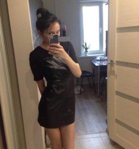 Платье кожзам, новое