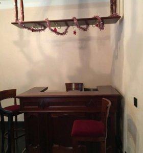Барная стойка с подсветкой и встроенным холодильни