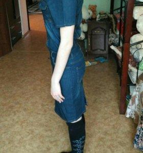 Платье джинсовое.