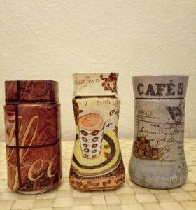 Декупажные баночки для кофе