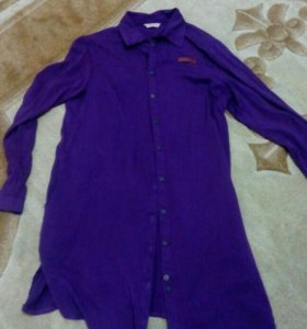 Фиолетовая рубашка 44-46