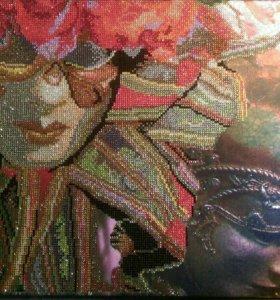 """Картина """"Венецианская маска"""" алмазная живопись"""