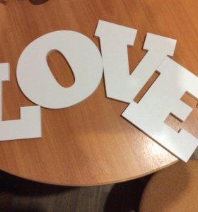 Аксессуары для свадьбы, фотосессии. Буквы