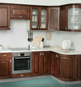 Кухня Трапеза массив люксс 1335*1600