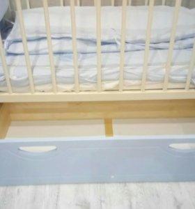 Детская кровать - маятник + ПОДАРОК